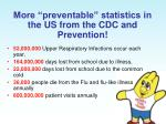 more preventable statistics in the us from the cdc and prevention