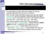 data rates and scheduling