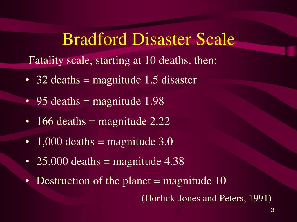 Bradford Disaster Scale