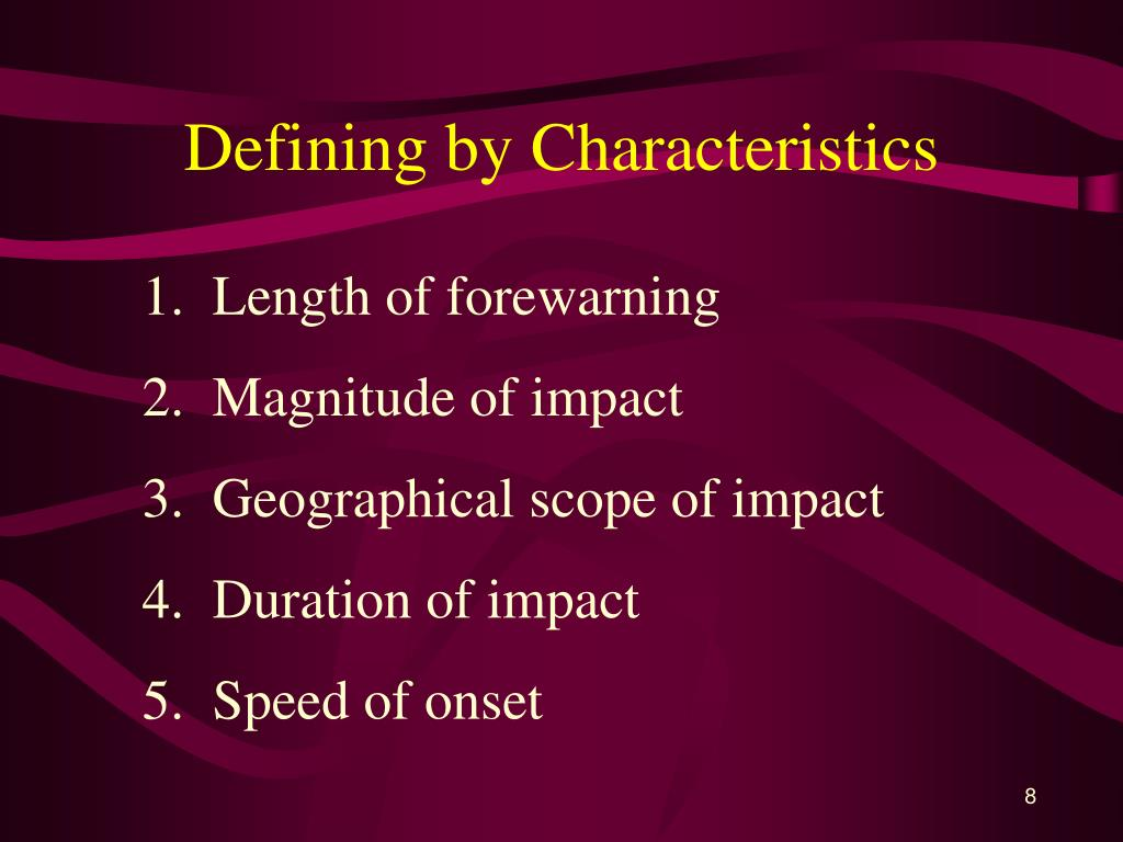 Defining by Characteristics