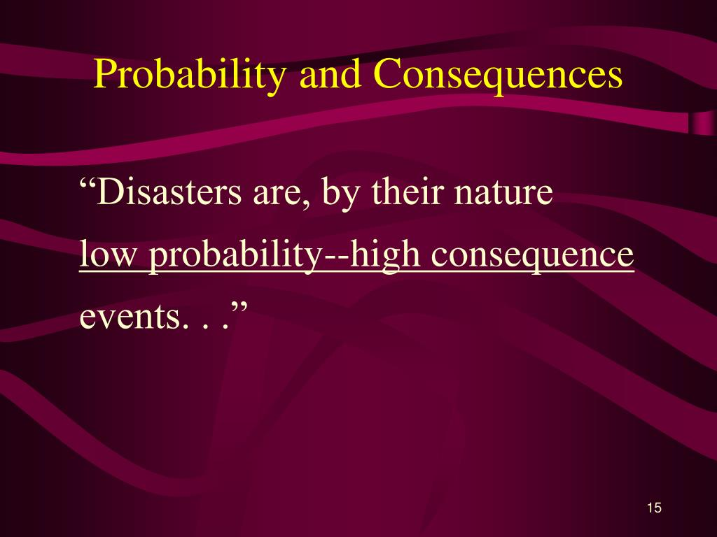 Probability and Consequences