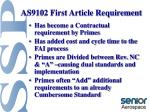as9102 first article requirement