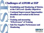 challenges of as9100 at ssp