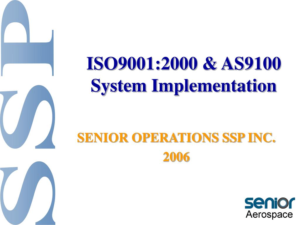 iso9001 2000 as9100 system implementation l.