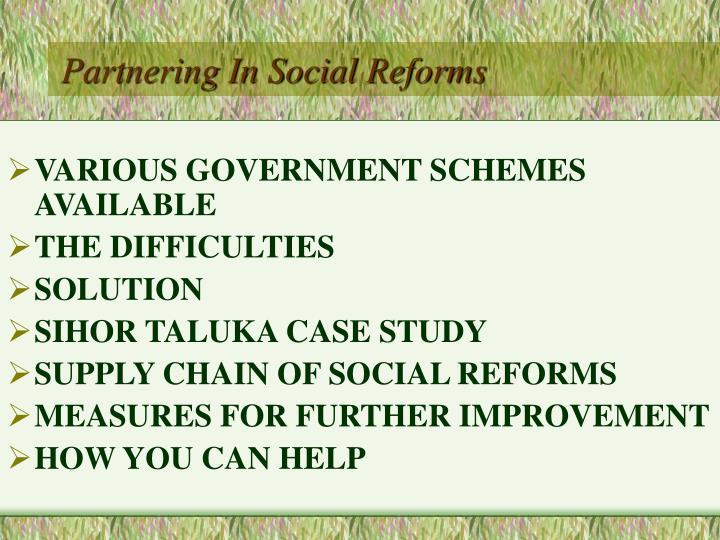 Partnering in social reforms2