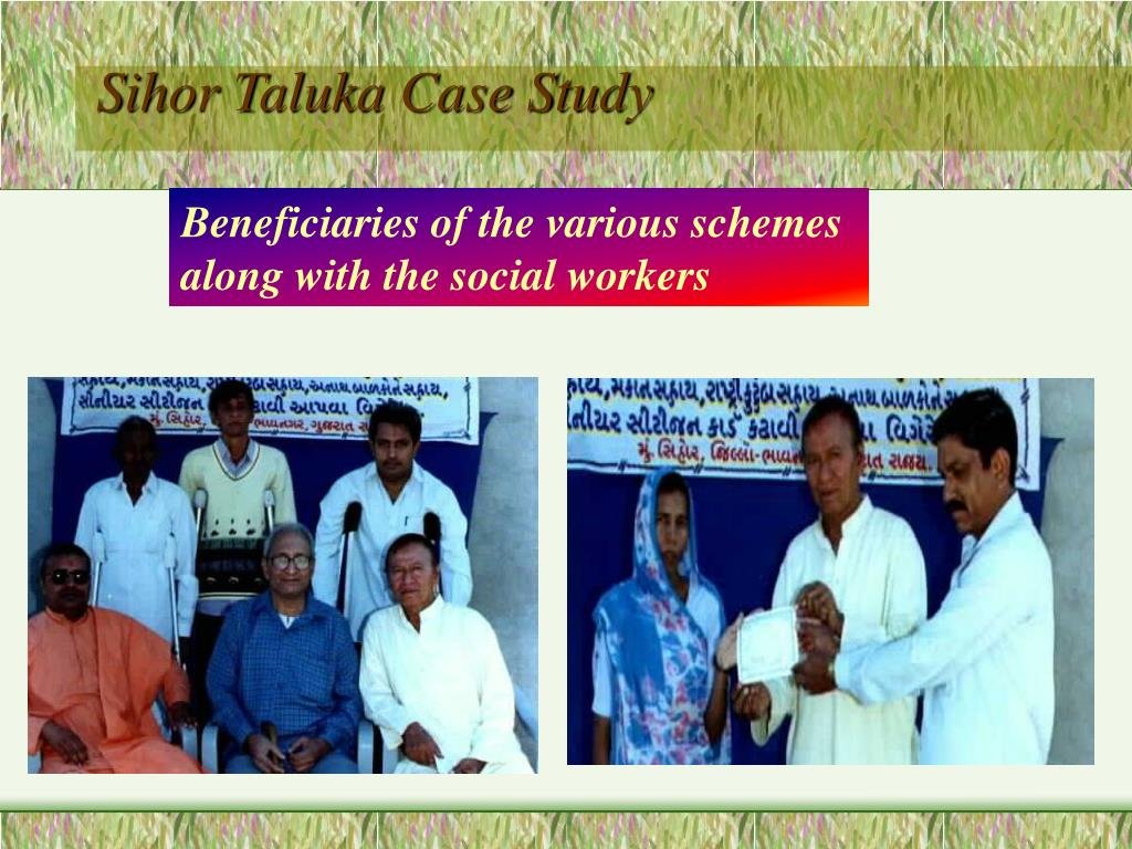 Sihor Taluka Case Study