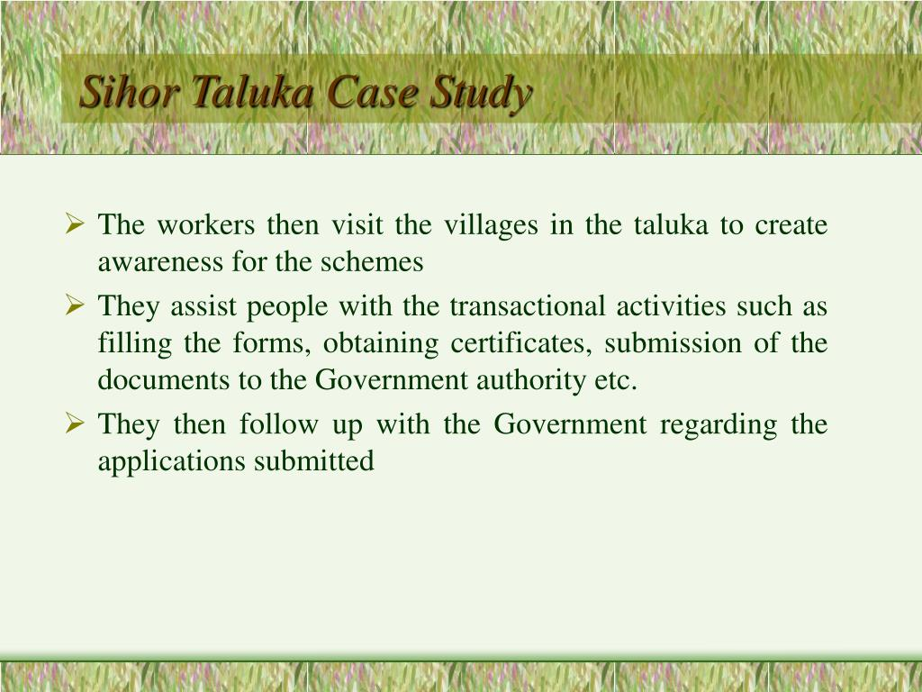 The workers then visit the villages in the taluka to create awareness for the schemes