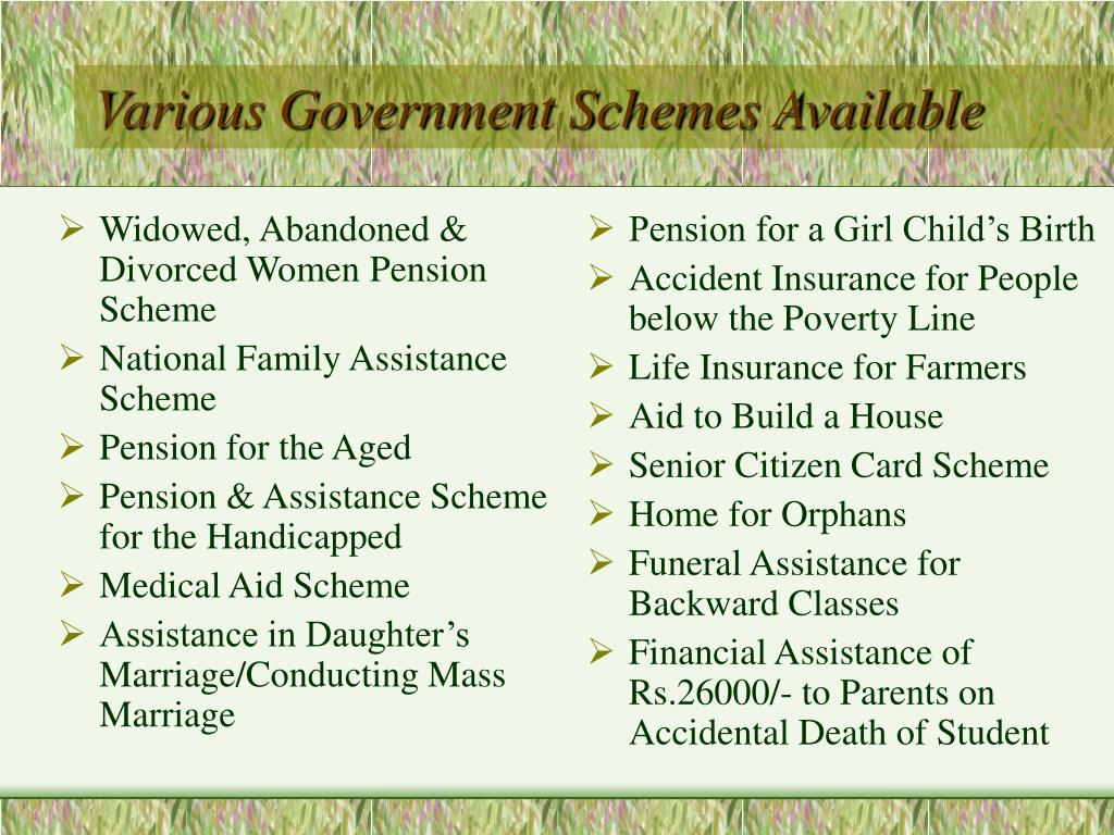Widowed, Abandoned & Divorced Women Pension Scheme