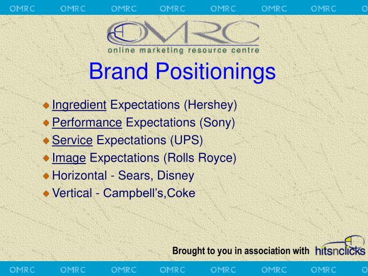Brand Positionings