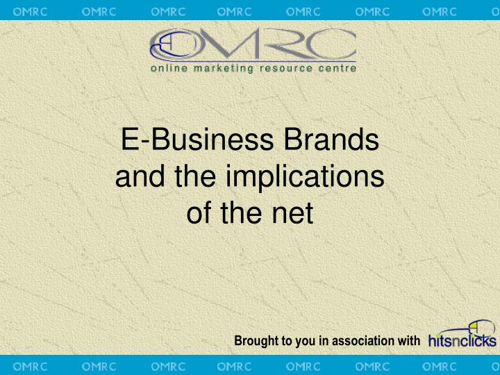 e business brands and the implications of the net n.
