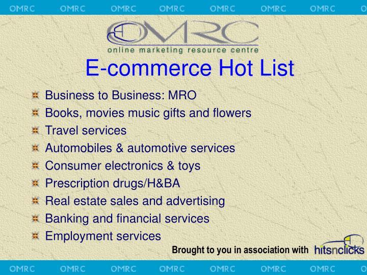 E-commerce Hot List