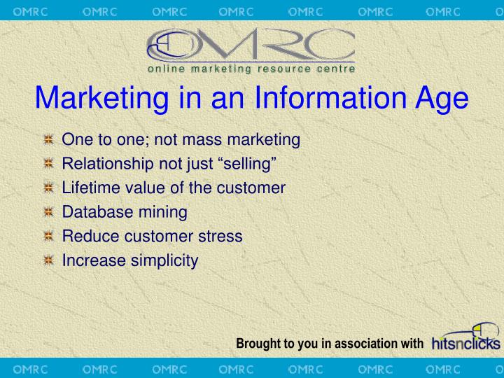 Marketing in an Information Age