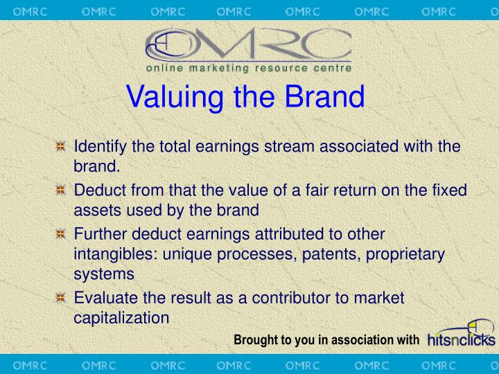 Valuing the Brand