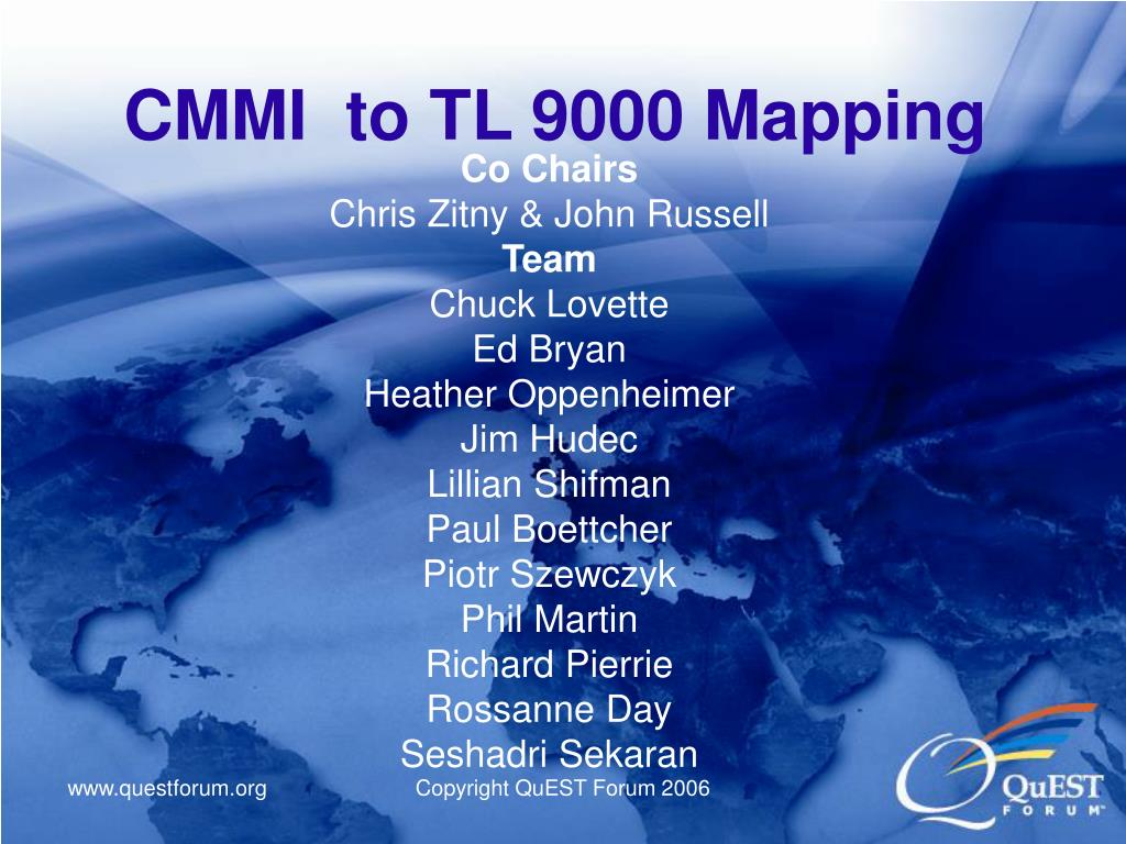cmmi to tl 9000 mapping l.