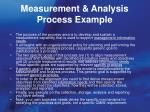 measurement analysis process example