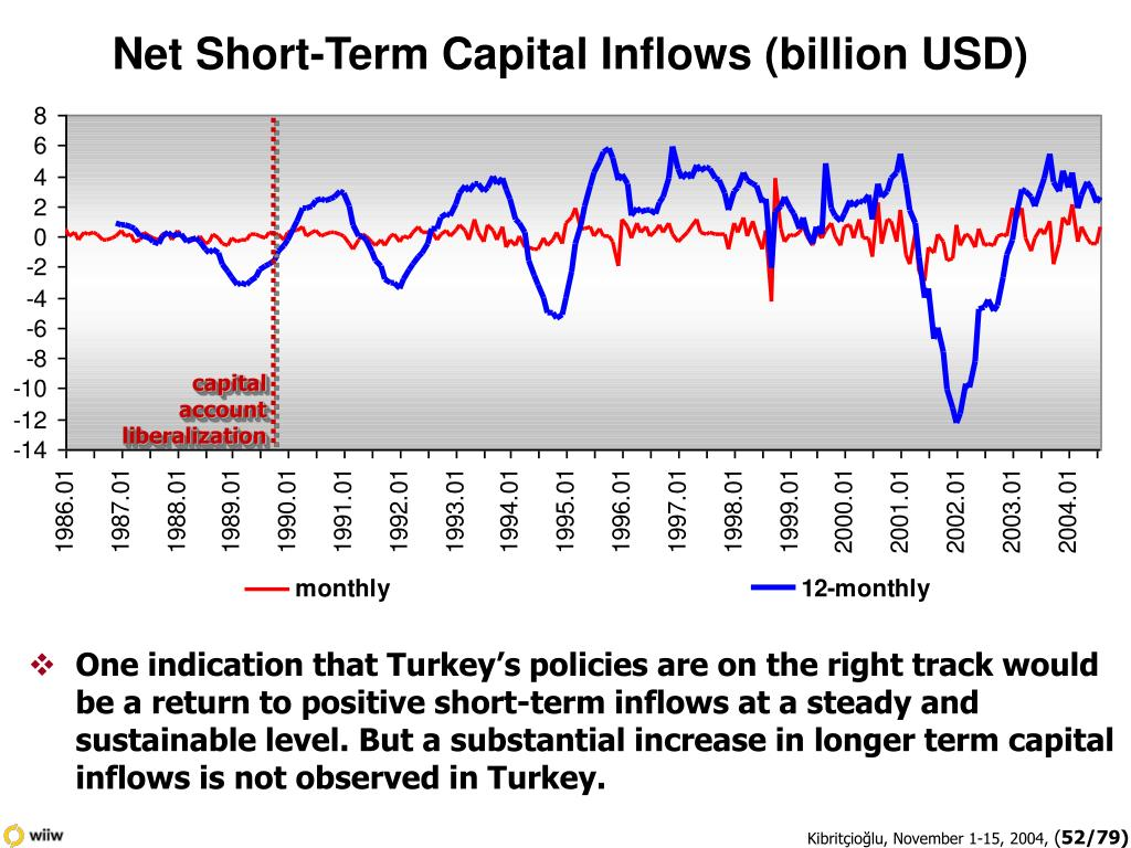Net Short-Term Capital Inflows (billion USD)