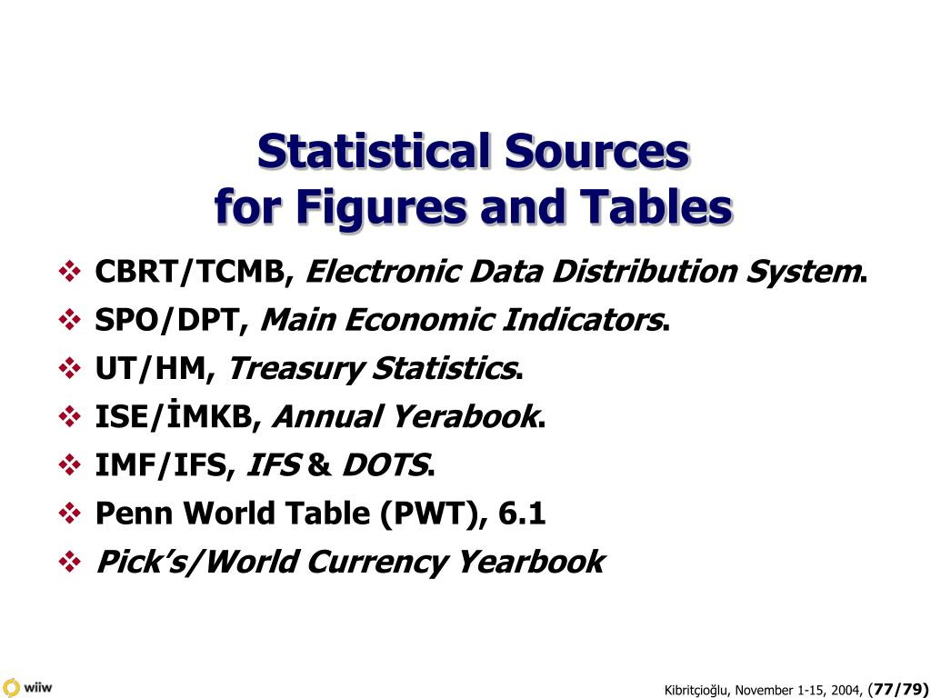 Statistical Sources