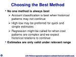 choosing the best method
