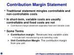 contribution margin statement