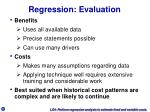 regression evaluation