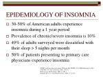 epidemiology of insomnia