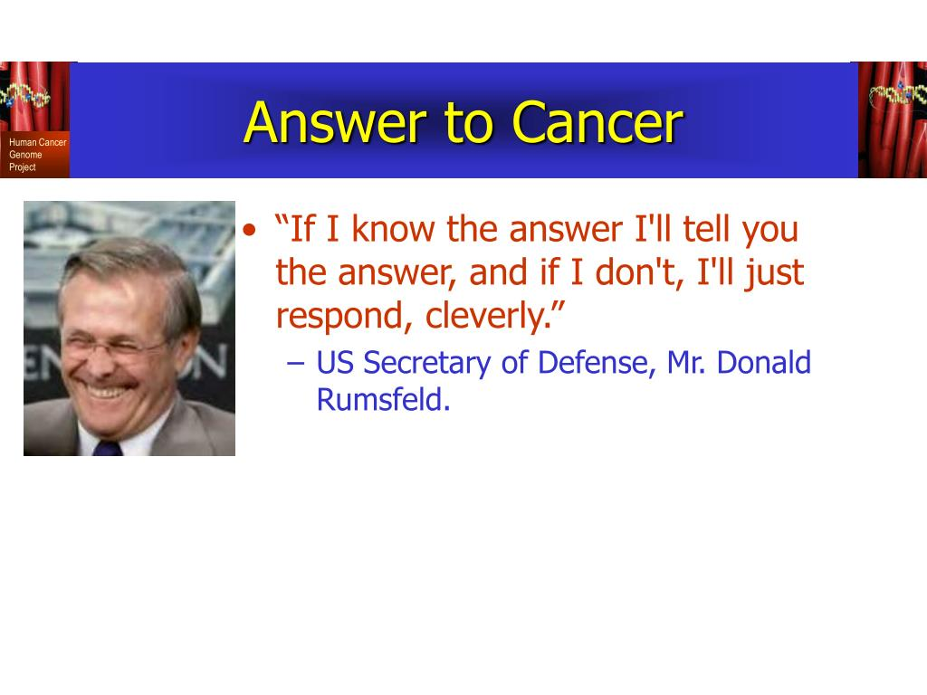 Answer to Cancer