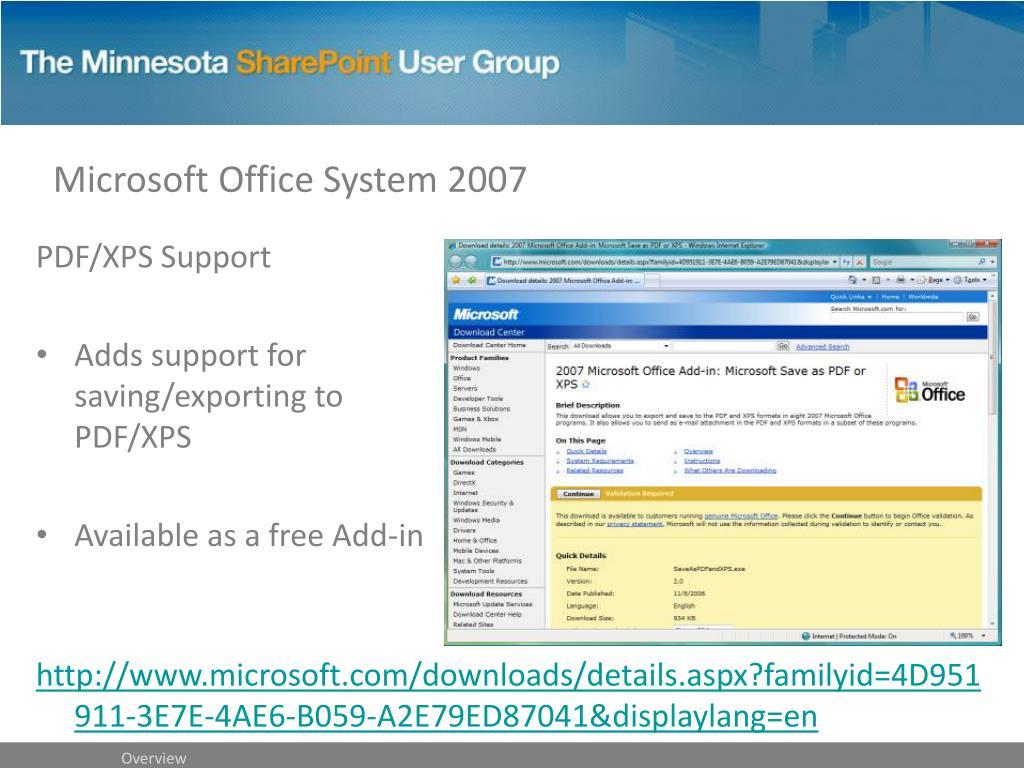 Microsoft Office System 2007
