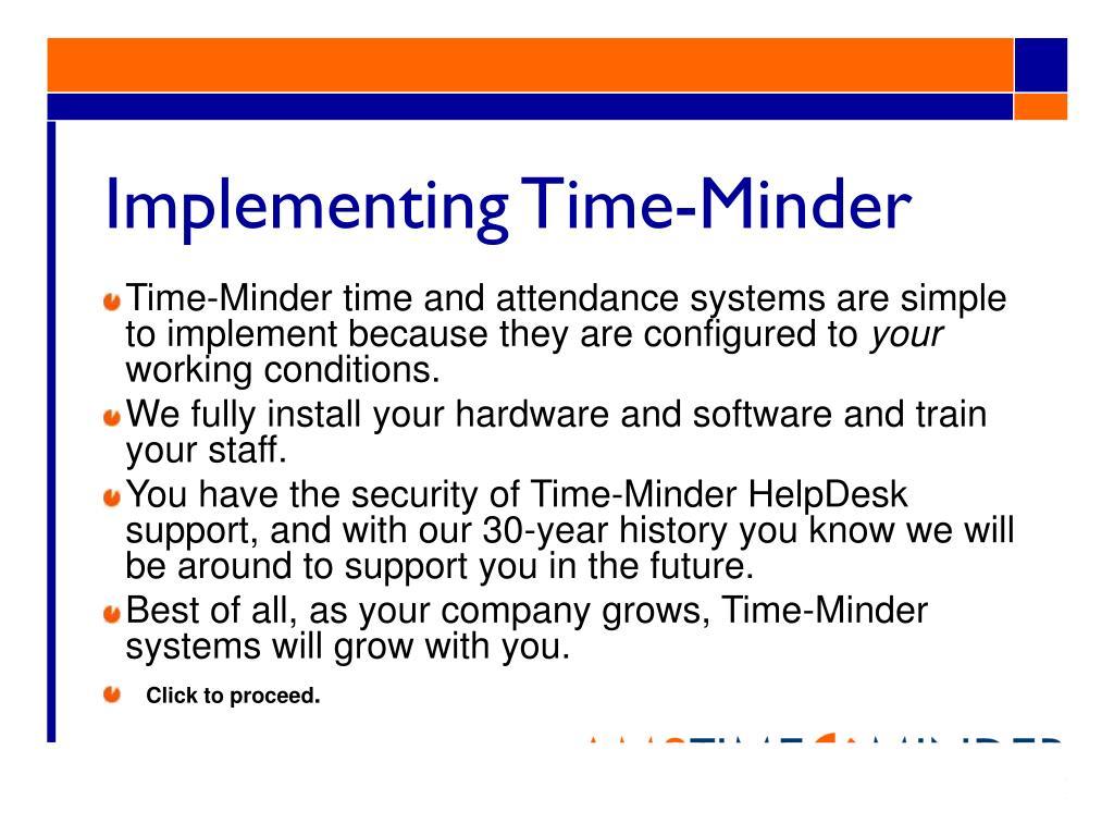 Implementing Time-Minder