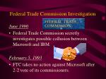 federal trade commission investigation