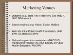 marketing venues