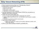 delay tolerant networking dtn