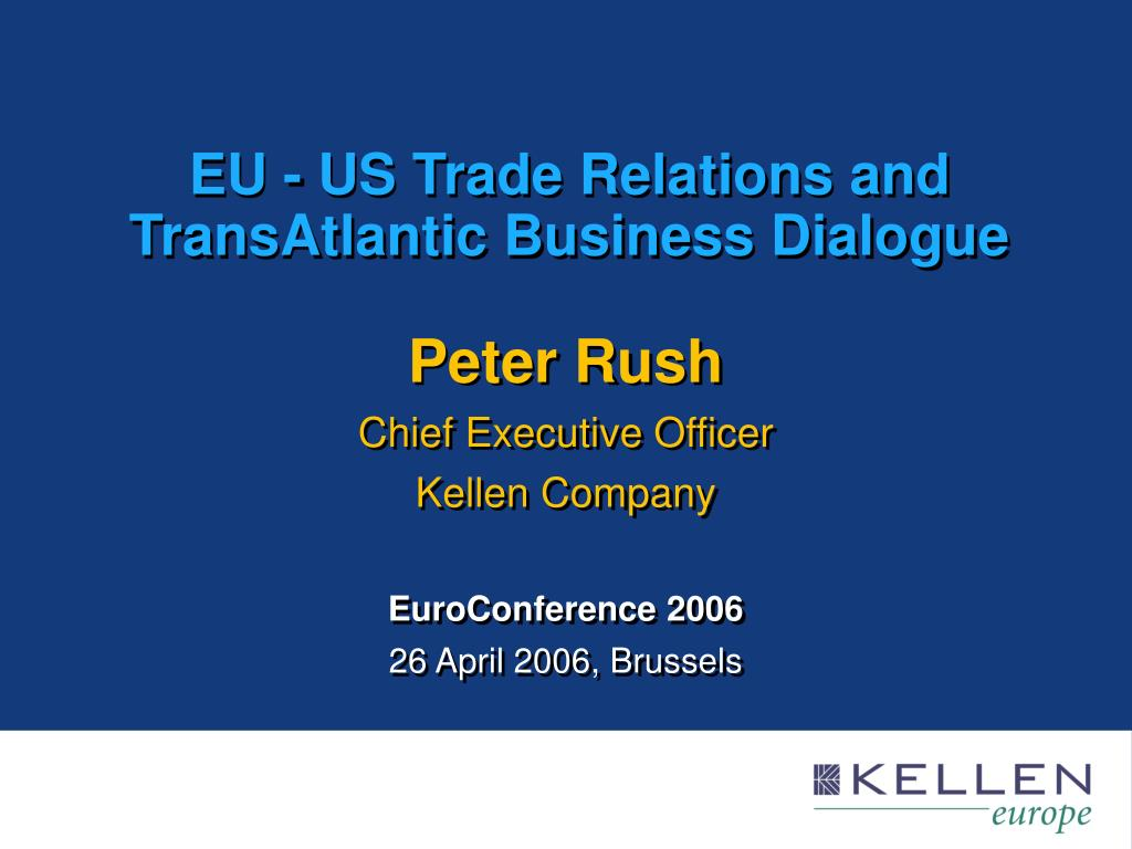 eu us trade relations and transatlantic business dialogue l.