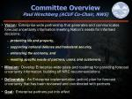 committee overview paul hirschberg acuf co chair nws