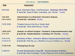 laboratory lab schedule