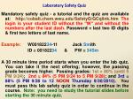 laboratory safety quiz