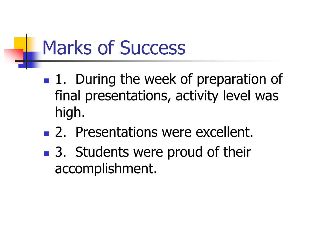 Marks of Success