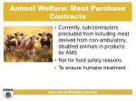 animal welfare meat purchase contracts