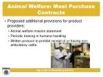 animal welfare meat purchase contracts30