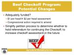 beef checkoff program potential changes