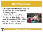 beef purchases