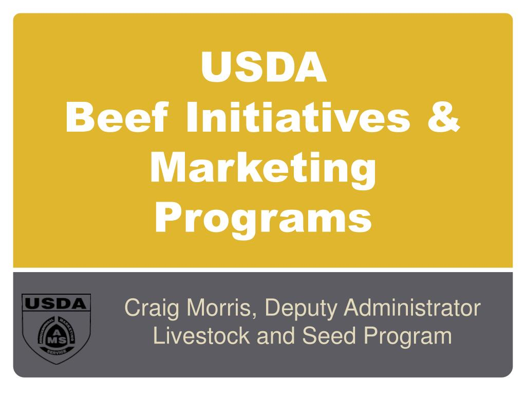 usda beef initiatives marketing programs l.