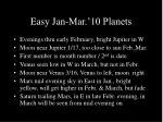 easy jan mar 10 planets