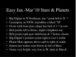 easy jan mar 10 stars planets