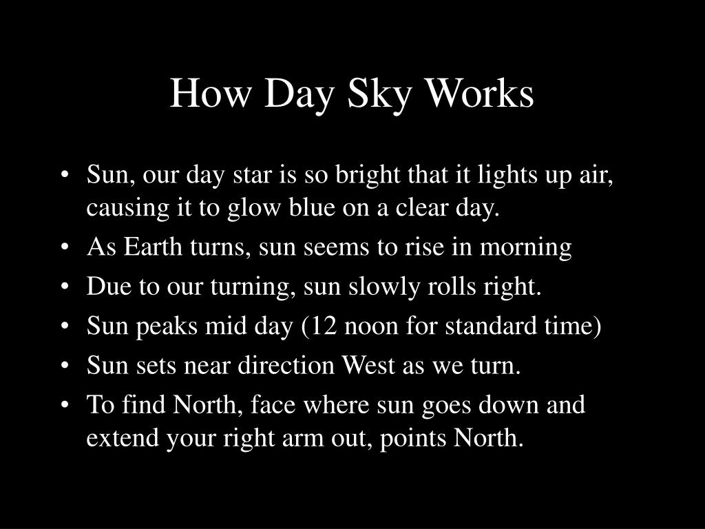 How Day Sky Works