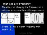 high and low frequency