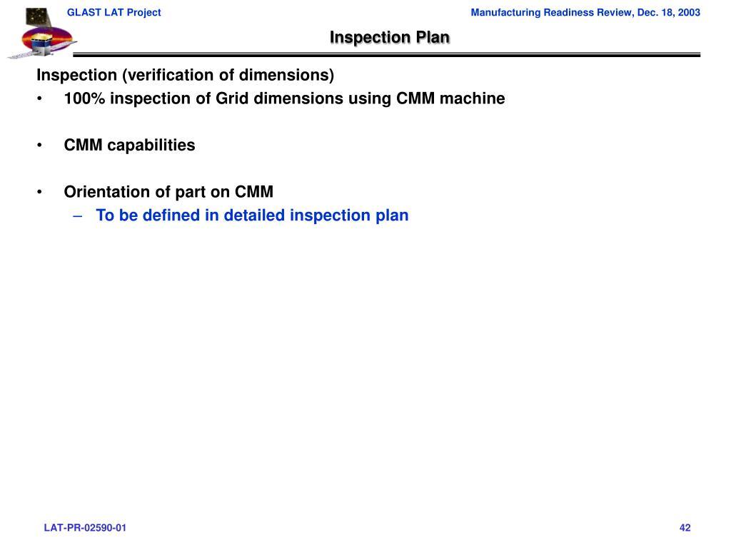 Inspection Plan