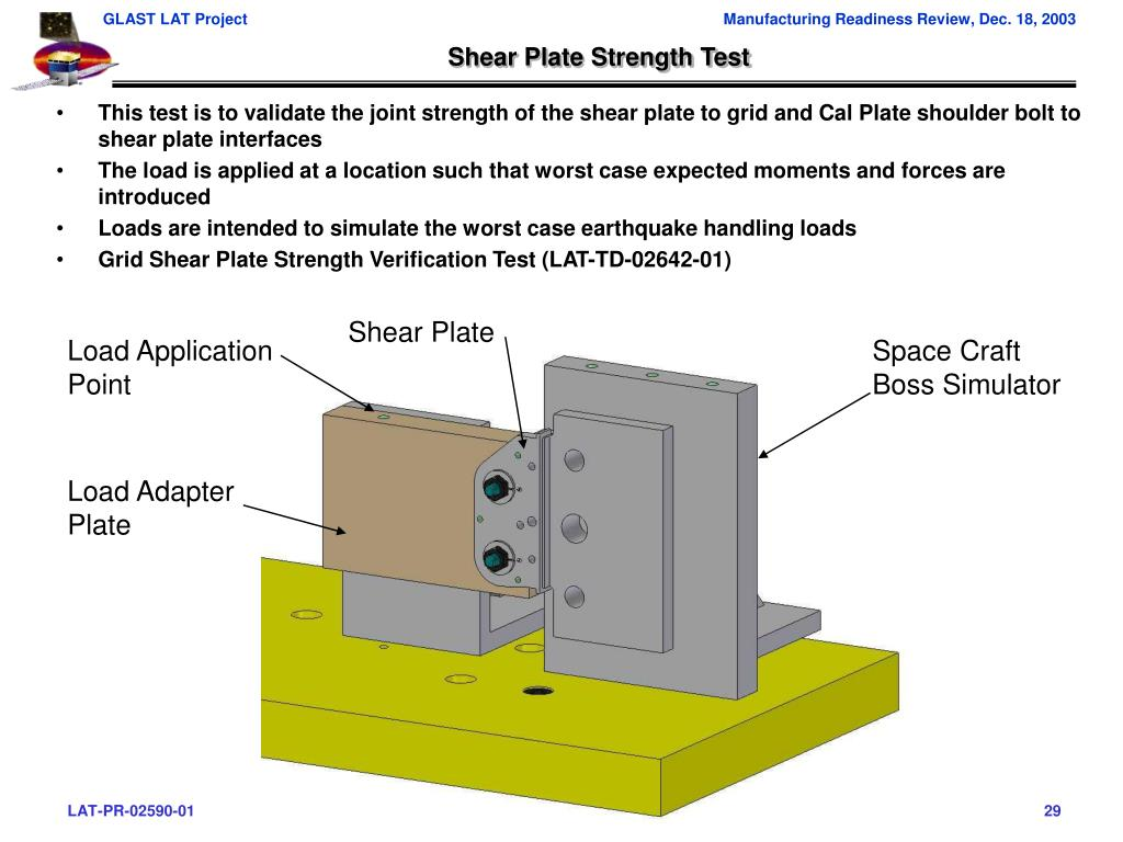 Shear Plate Strength Test