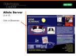 allele server 3 of 17 click on bioservers
