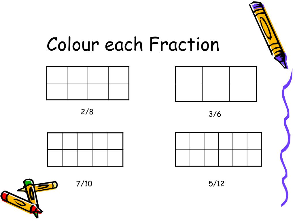 Colour each Fraction