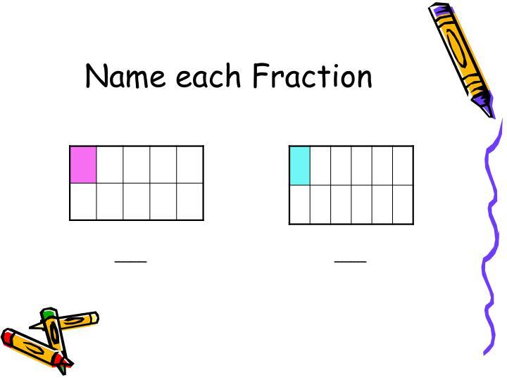 Name each fraction3